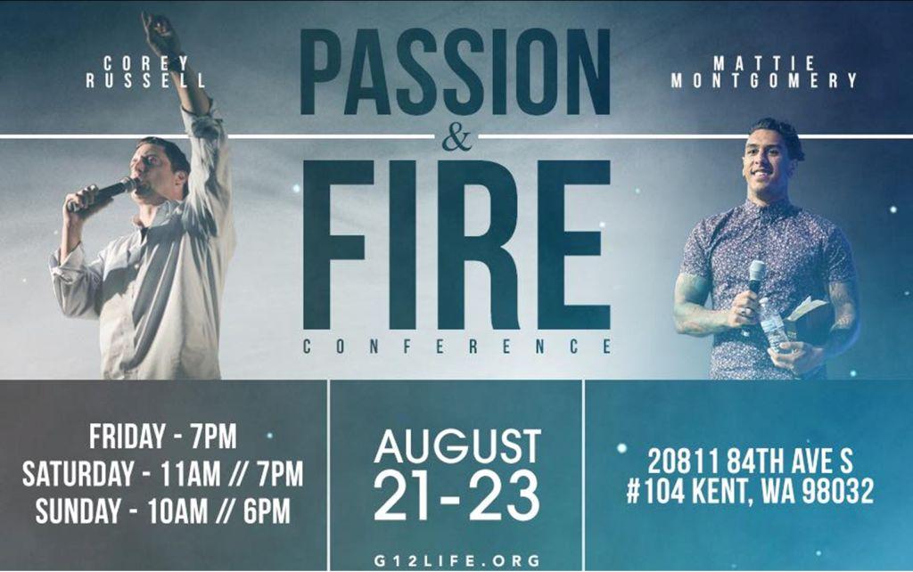 Конференция / Passion & Fire Conference with Corey Russel and Mattie Montgomery (August 21-23, 2015)