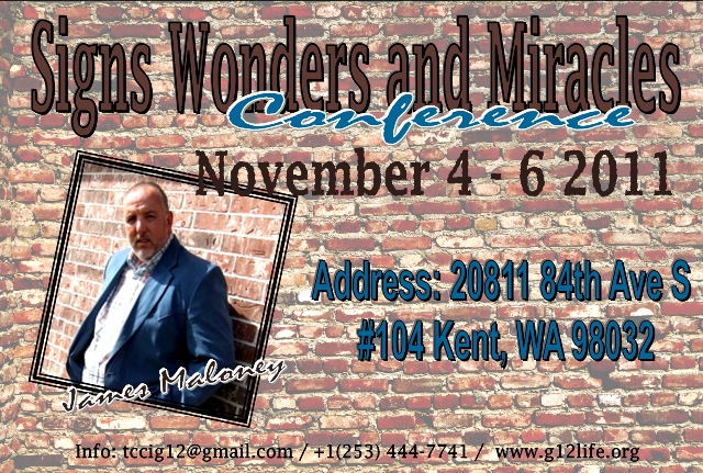 Signs, Wonders and Miracles CONFERENCE with Dr. James Maloney