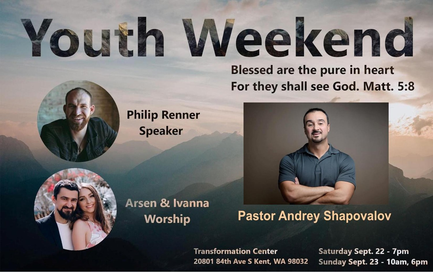 Transformation Center Youth Conference (September 22-23 2018)