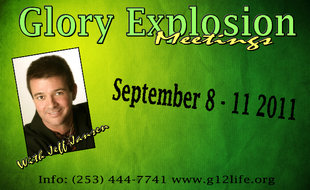 Конференция Glory Explosion Meetings with Jeff Jansen (Сентябрь 8-11)