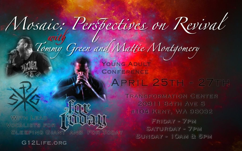 Conference with Tommy Green (Sleeping Giant) and Mattie Montgomery (For Today) April 25 - 27 2014